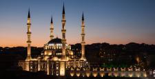 Kırıkkale Nur Camii'ne ödüllü aydınlatma