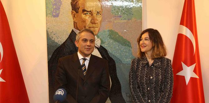 """Büyükelçi Sedef Yavuzalp'in """"Tarihte Mozaik Yolculuğu"""" sergisi açıldı"""