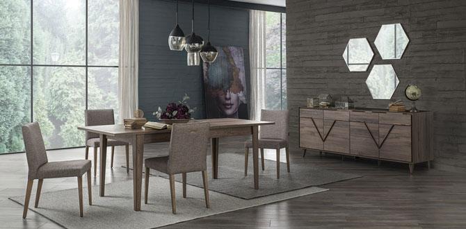 Doğal ahşabın modern tasarım ile buluşması; Valente Serisi