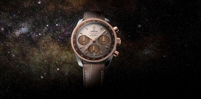Sadeliğin ikonik tasarım ile buluşması: OMEGA Speedmaster 38mm: Capuccino