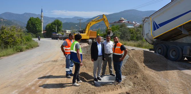 Oba Mahallesi'ne 30 kilometrelik kanalizasyon hattı ile su sorunu çözülüyor…