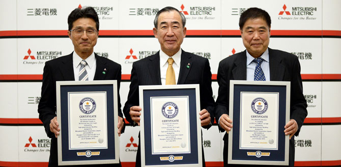 Mitsubishi Electric üç dalda Guinness dünya rekoru kırdı…
