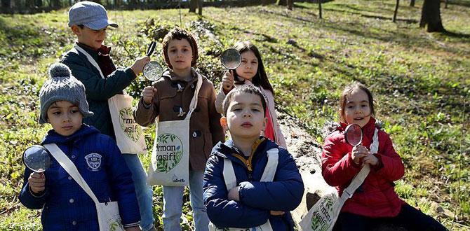 """Doğayı inceleyen 16 bin çocuk """"orman kaşifi"""" oldu"""