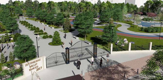 94 bin metrekarelik Millet Bahçesi Zeytinburnu'na yapılıyor…