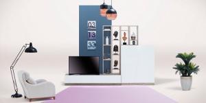 Apollon TV Ünitesi, retro sıcaklığını modern dokunuşlarla evinize getiriyor…