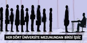 Her 4 üniversite mezunundan biri işsiz…