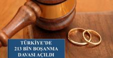 Türkiye'de 213 bin boşanma davası açıldı…