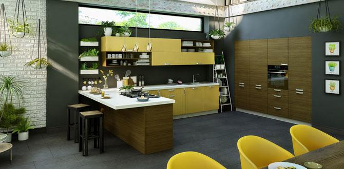 İntema Aura koleksiyonu ile mutfaklarda ahşap doğallığı…