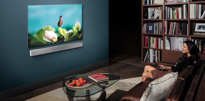 Samsung duvara monte edilebilen yeni Soundbar'ını CES 2018'de beğeniye sunacak…