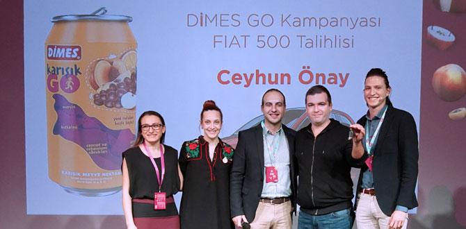 Dimes Go, Fiat 500 kazandırdı…