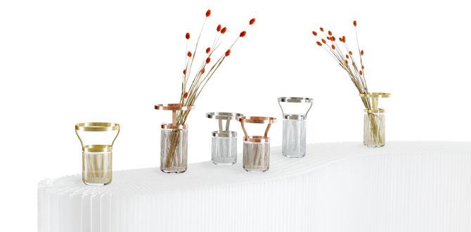 "Paşabahçe Mağazaları Omnia Su Koleksiyonu'ndan ""Silhoutte Vazo"""