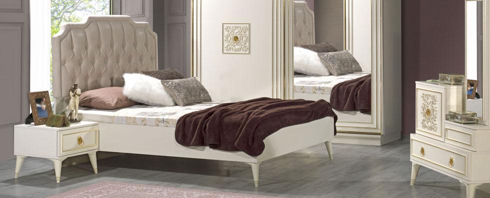 Romantik detaylar için Kilim'den Golden Yatak Odası…