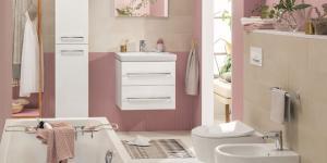 Modern ve pratik bir banyo…