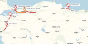 Yandex Navigasyon bayram trafiği haritasını çıkardı…