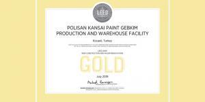 Polisan Kansai Boya'nın yeni üretim tesisleri artık Leed Gold sertifikalı…