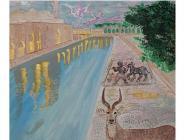 Ressam-Büyükelçi Sedef Yavuzalp, Tarihin Sıfır Noktası başlıklı karma resim sergisinde sanatseverlerle buluşuyor…
