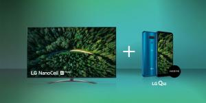 LG büyük ekran NanoCell TV'ler şimdi LG Q60 telefon hediyeli…