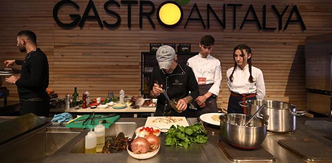 Gastroantalya, Anfaş Hotel Equipment ve Food Product ile eş zamanlı düzenleniyor