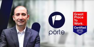 """Yerli proje geliştirme şirketi Porte, """"Great Place To Work"""" sertifikası aldı"""