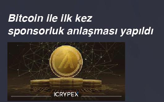 Bitcoin ile ilk kez sponsorluk anlaşması yapıldı
